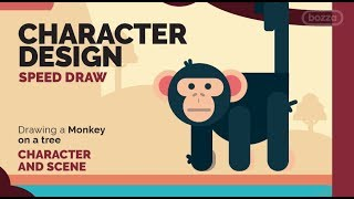 Monkey  - Character Design - Speed Draw