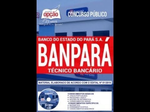 9207b31c6 Apostila Concurso Banpará 2018 Técnico Bancário pdf download baixar ...