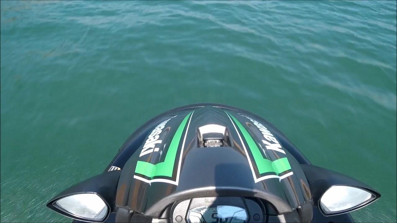 kawasaki stx-15f jet ski acceleration and top speed test - youtube
