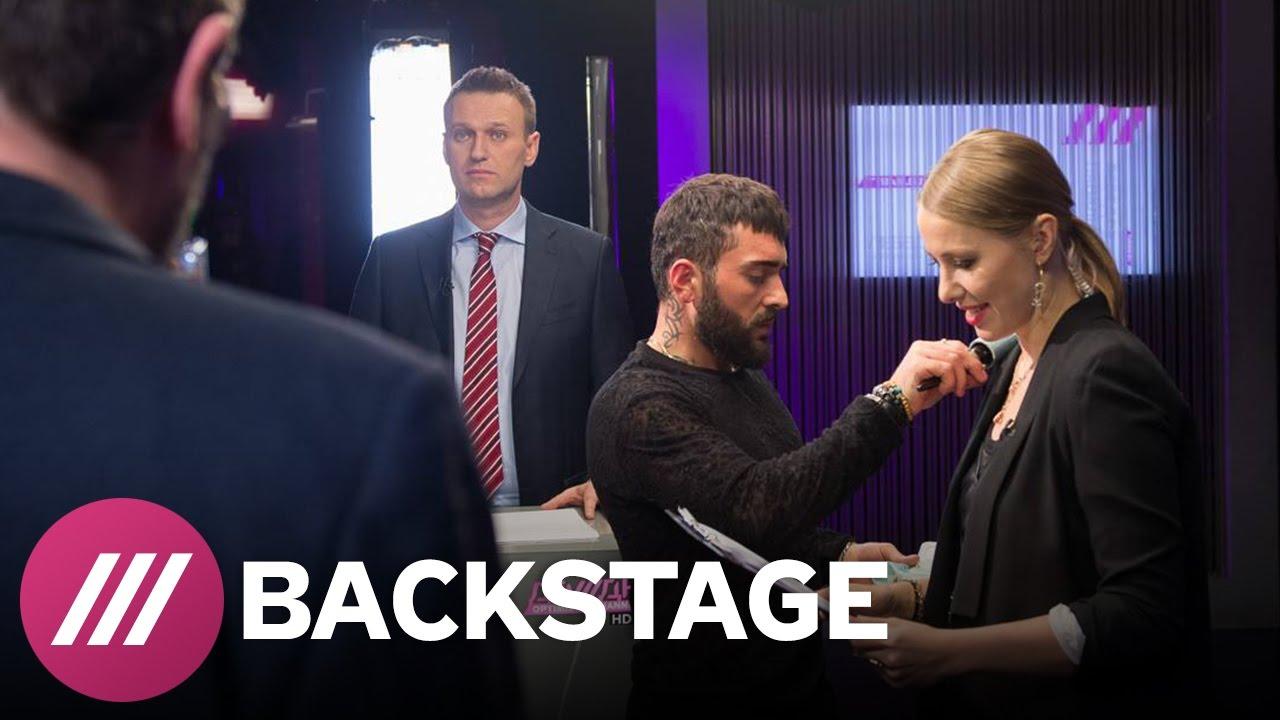 Дебаты Навального и Лебедева. Backstage