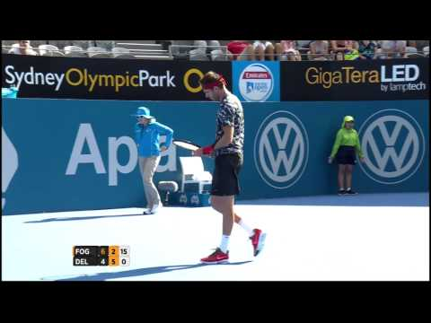 Fabio Fognini v Juan Martin Del Potro highlights (2R) - Apia International Sydney 2015