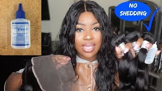 How To: Seal Your Wefts | No More Shedding Weave!  [REVIEW + DEMO]