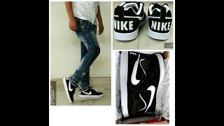 huge selection of 60f78 0db80 Nike Men Black Court Borough Low Sneakers on feet review - Nikhil.