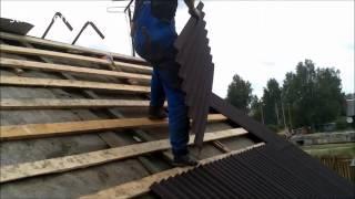 видео Как крыть крышу ондулином ?