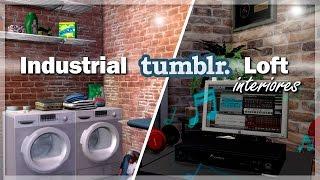 LAVANDERÍA Y ESTUDIO DE GRABACIÓN || Industrial Tumblr Loft - Interiores #3 | Los Sims 4
