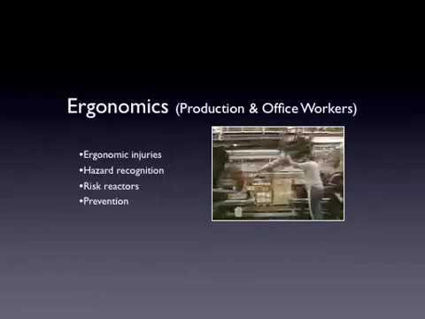 Ergonomics - Safety Training Classes Courses