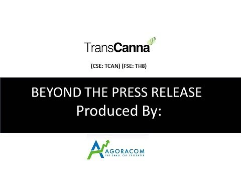 Transcanna Revenue Run Rate Of $24M Will Increase To $90M When 196K Sq Ft Facility Comes Online