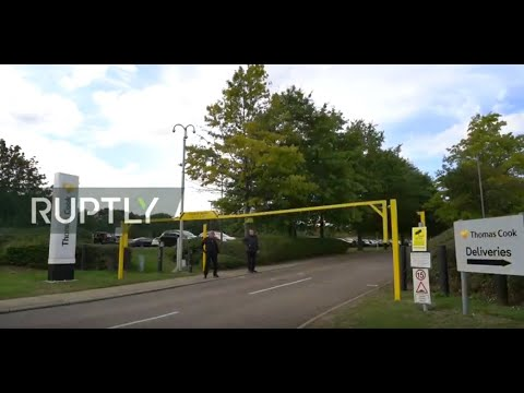LIVE: Guards Lock Down Thomas Cook HQs After Company's Collapse