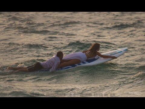 Adi & Shay surfing wedding