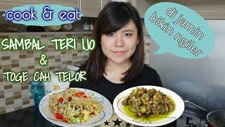 """sambal teri ijo & toge cah telor """"cook&eat"""""""