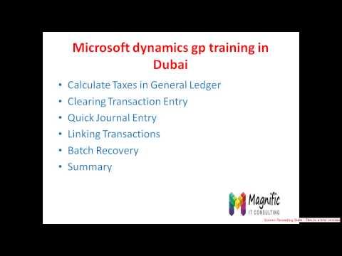 Microsoft Dynamics  training in Dubai