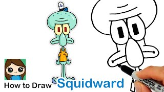 How to Draw Squidward Tentacles | SpongeBob SquarePants