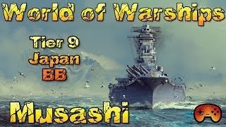 """Musashi"" T9 vorgestellt ein Premiumschiff in World of Warships - Deutsch/German"