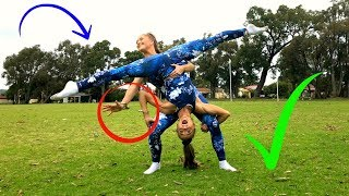 Gymnastics/ Acro HANDCUFFED TO MY TWIN Challenge! | The Rybka Twins!