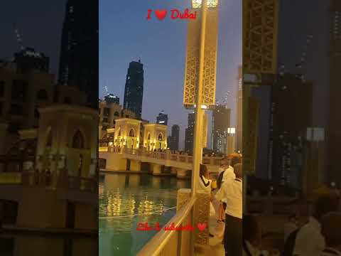 Dubai Mall#Dubai Mall walkway# nightlife in Dubai#Burj Khalifa#Light& Fountain show#Dubai#shorts