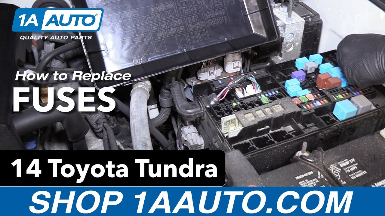 [DIAGRAM_38YU]  How to Replace Fuses 14-19 Toyota Tundra - YouTube | 2015 Toyota Tundra Fuse Diagram |  | YouTube