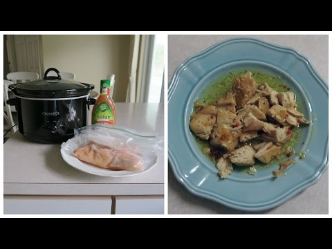 2 Ingredient Crock Pot Recipe | Italian Chicken