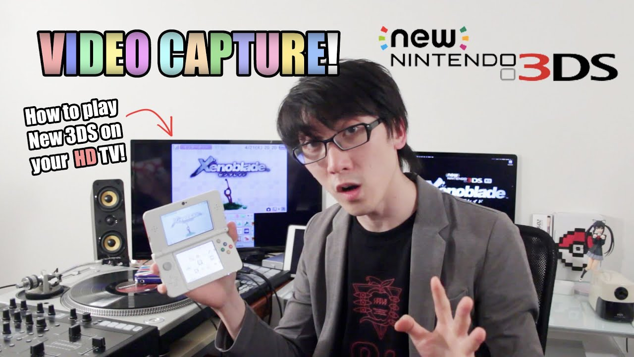 New 3DS - How to Play on HD TV! [Video Capture Card by KatsuKity]