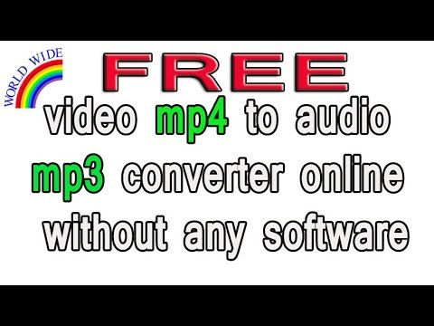 video mp4 to audio mp3 converter  online without any software