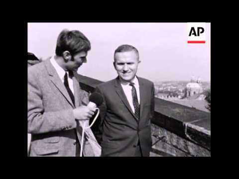 SYND 21-05-69 ASTRONAUT FRANK BORMAN VISITS PRAGUE AS PART OF A GOODWILL TOUR OF COMMUNIST COUNTRIES