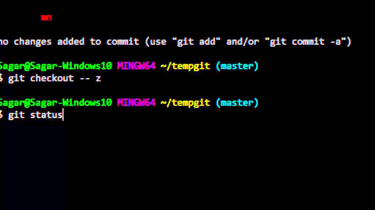 How to revert the file changes in working directory in git
