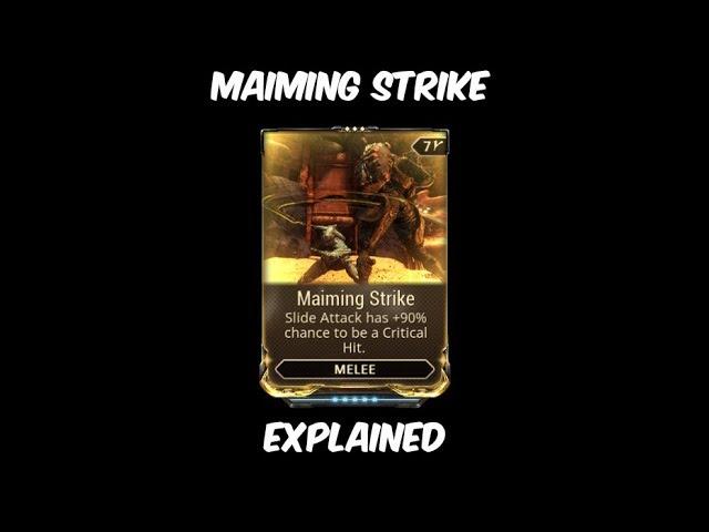 Warframe Maiming Strike Explained