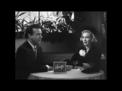 "Marilyn Monroe's Brief scene in the 1951 Movie ""Right Cross"" Plus The Movie Trailer"