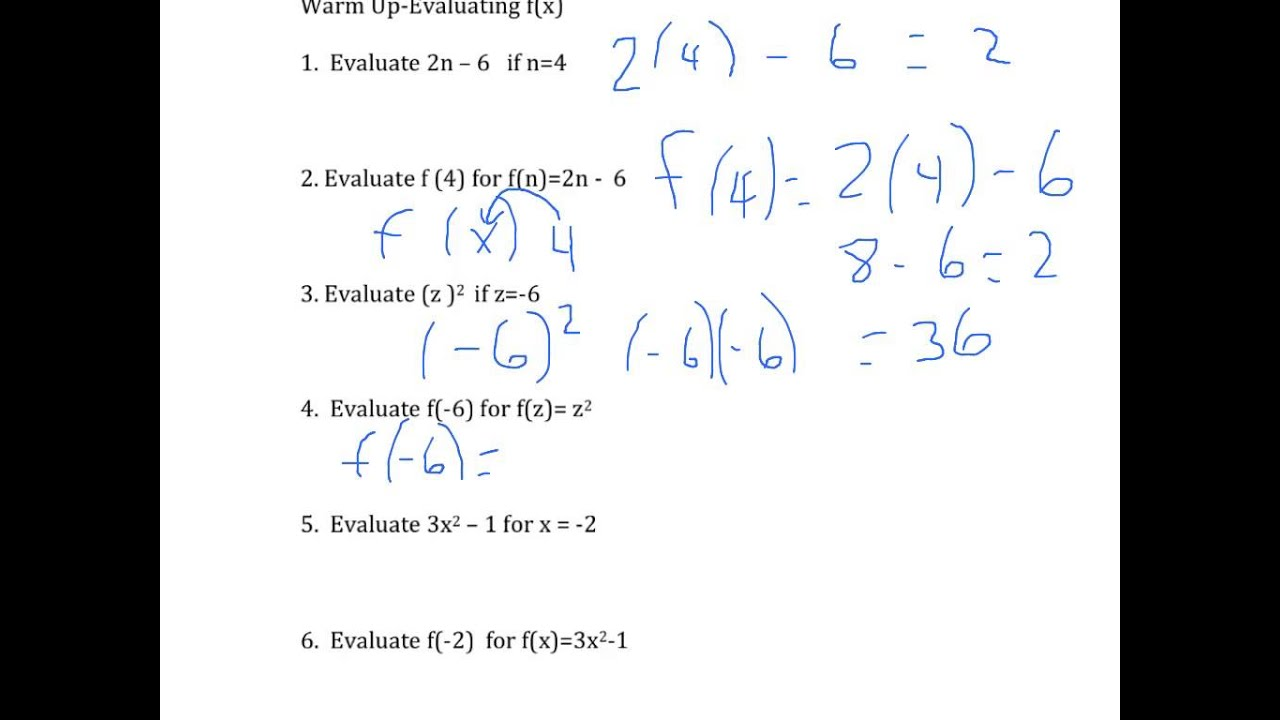 hight resolution of Ninth grade Lesson Evaluating Functions Using Function Notation