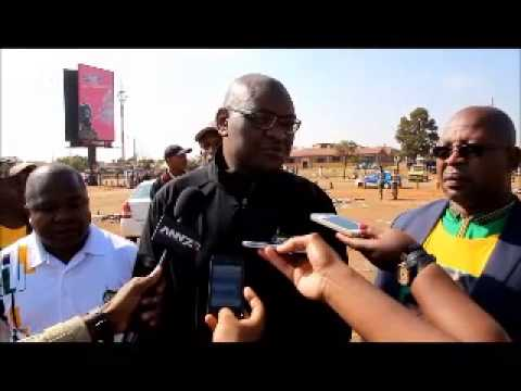 David Makhura of the ANC arrives in Bekkersdal on Election Day 2014