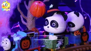 Baby Panda's Pumpkin Castle Adventure | Play Doh for Kids | Halloween Cartoon | Kids Toys | ToyBus