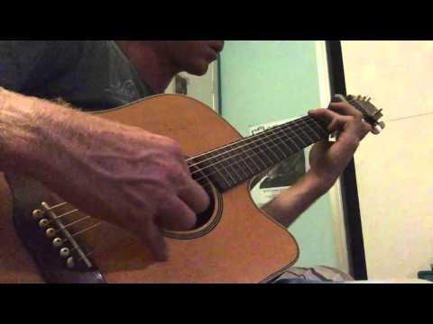 Experimental Guitar Jamming on Acoustic Open D Tuning - Ylia Callan Guitar