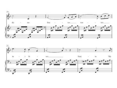 J. S. Bach / C. Gounod: Ave María. M. Callas. Partitura en Fa Mayor