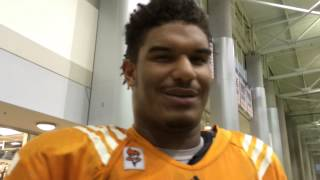 Vols defensive lineman Jordan Williams talks about Corey Vereen