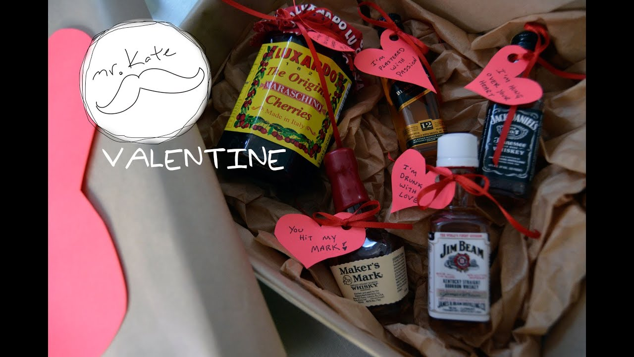 Mr. Kate DIY Liquor and Hearts Valentine's Gift for a Guy