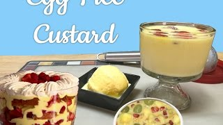 Egg Free Vanilla Custard Pudding Ice Cream Video Recipe | #fighthungerclub