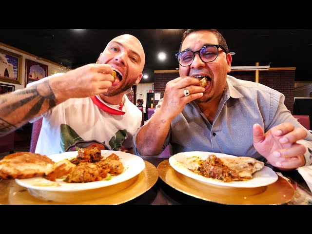 Eating INDIAN FOOD for 24 HOURS in CORAL SPRINGS!! Pani Puri, Kebabs & Butter Chicken |  Florida