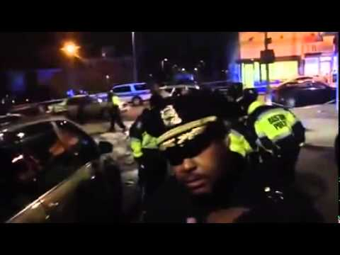 Superintendent Gross Speaks To Protesters After Policeman Shot In The Face