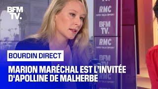 Marion Maréchal face à Apolline de Malherbe en direct