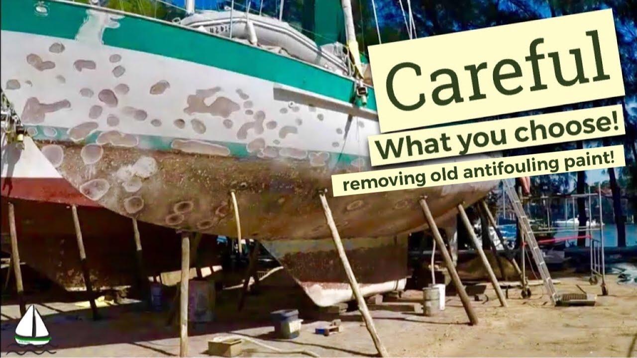 How to Remove Old Bottom Paint the EASY WAY? Heat gun? Sanding? Sandblasting? Patrick Childress #40
