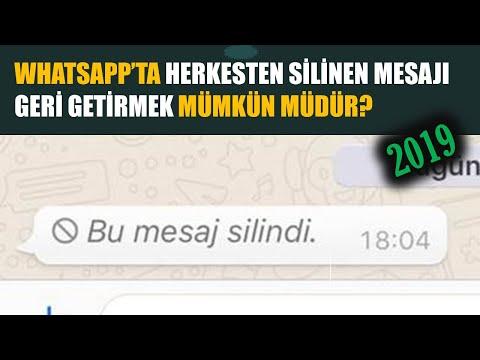 Whatsapp Herkesten Silinen Mesajları Geri Getirme - 2019