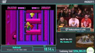 Awesome Games Done Quick 2015 - Part 48 - Battletoads by jc583 and TheMexicanRunner