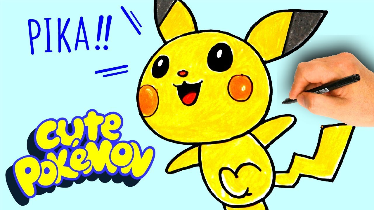 How To Draw Pikachu Pokemon Easy Drawing Tutorial Cute Baby