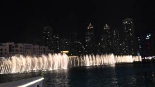 Fountain show Burj Khalifa 27-04-2015, Dubai -Experience2-