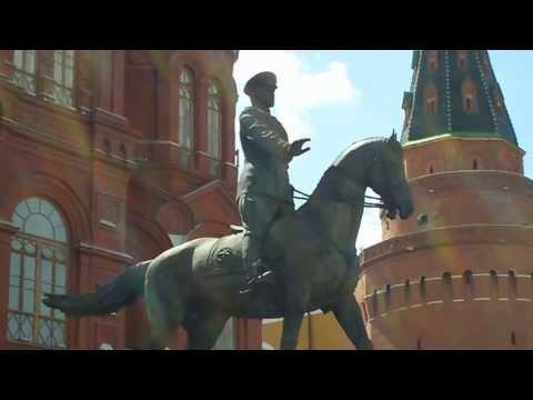 Marshal Zhukov in Front of Kremlin