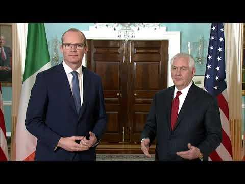 Secretary Tillerson Meets with Irish Deputy Prime Minister Simon Coveney