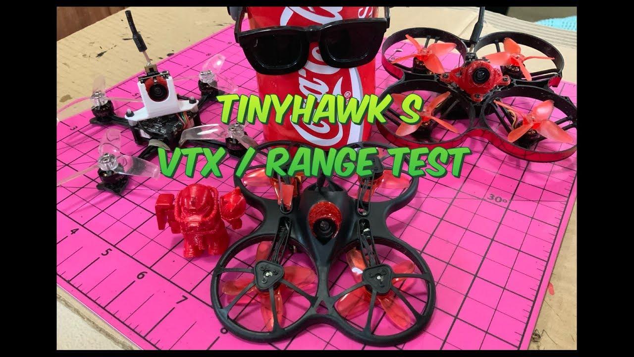 TINYHAWK S VTX/RSSI RANGE TEST (@142M/465FT)