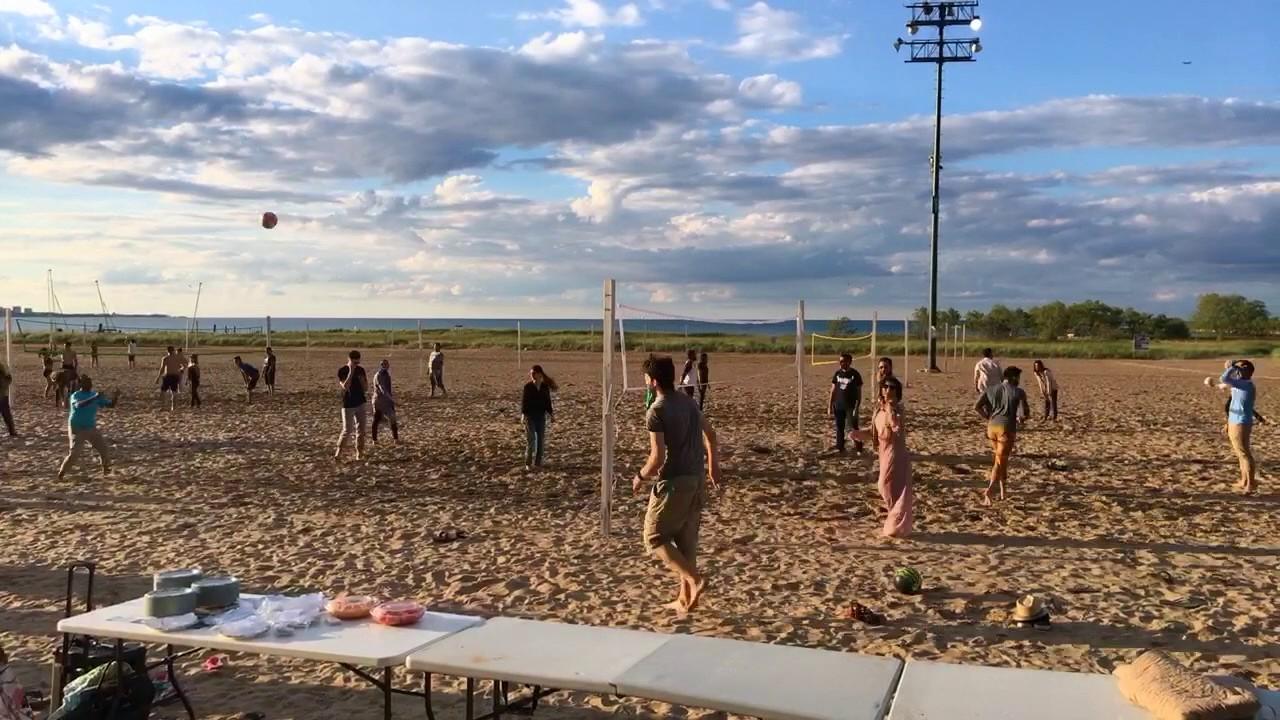 Time Lapse Beach Volleyball Iftar Ramadan 2017 Montrose Chicago
