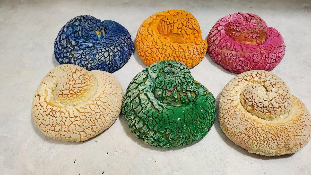 Como hacer caracolos de colores y rellenos De queso filadelfia