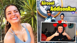 I PLAYED WITH ADDISON RAE ON FORTNITE FOR MY BIRTHDAY!!!