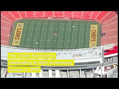 buy online da55d 237a4 Throwback design to adorn field for Kansas City Chiefs' home opener